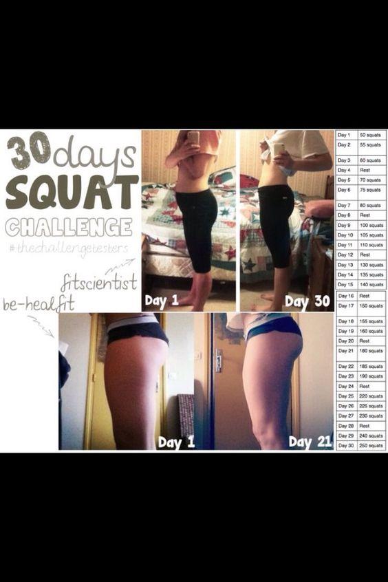 Squat Challenge #Health #Fitness #Trusper #Tip