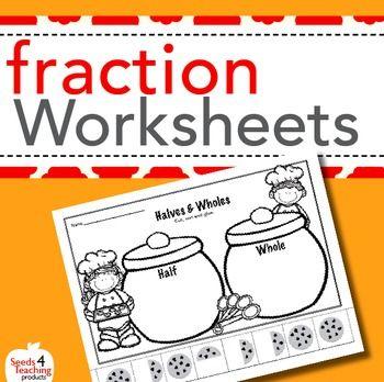math worksheet : fraction worksheets for kindergarten and first grade  fractions  : Independent Practice Math Worksheet