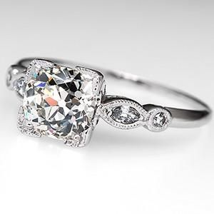 Beautiful on the side and antique engagement rings on for What is platinum jewelry made of
