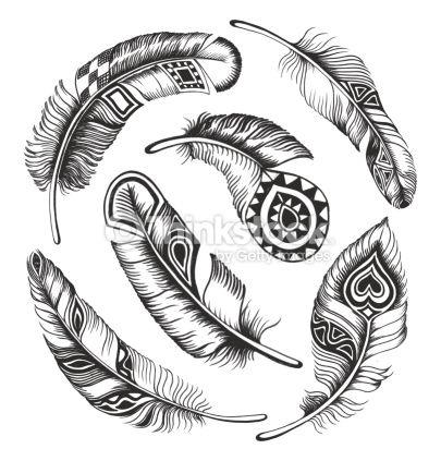 Clipart vectoriel : Black feather circle ornament                                                                                                                                                     Plus