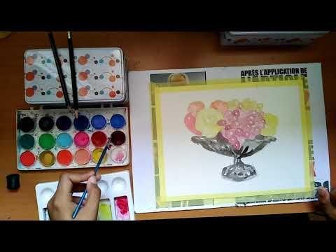 كيفية رسم و تلوين سلة فواكه بالألوان المائية Youtube Home Decor Decor Frame