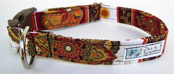 Medalion Adjustable Dog Collar  Made to order  by JinsK9Kreations, $18.00