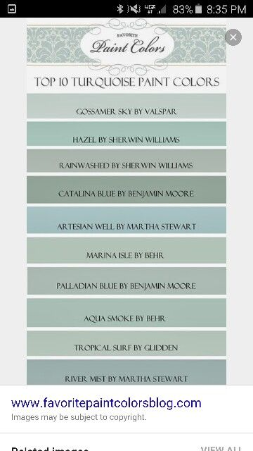 Turquoise paint colors