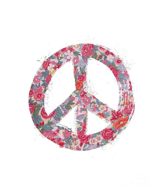 Far Too Pretty Peace Symbol #1 Digital Art by Nola Lee Kelsey