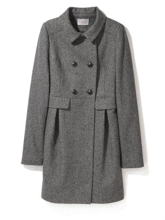 manteau femme esprit couture paprika gris moyen chine bleu. Black Bedroom Furniture Sets. Home Design Ideas
