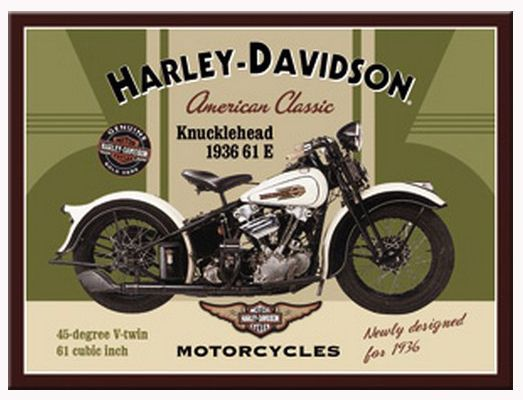 6 5 Aud Retro Metal Magnet Harley Davidson Knucklehead 8x6cm Motorcycles Licensed Ebay Collecti Harley Davidson Knucklehead Classic Harley Davidson Harley