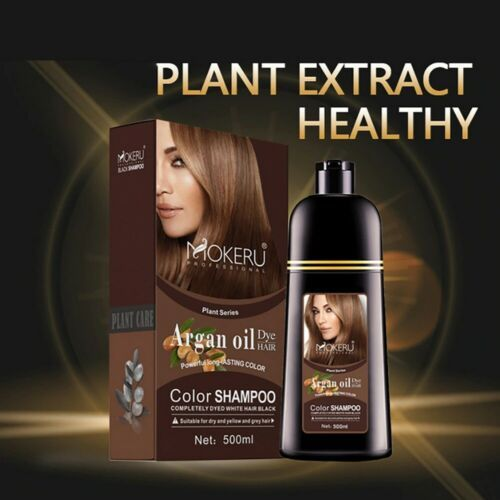 500ml Natural Organic Permanent Hair Color Dye Long Lasting Argan Oil Shampoo Ebay In 2021 Color Shampoo Hair Color Shampoo Hair Dye Shampoo
