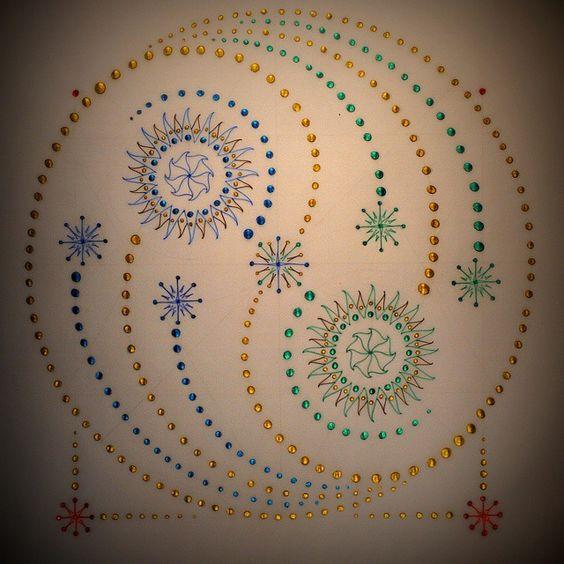 Yin Yang Central #mandala #namaste #fibonacci #quantum #sacredgeometry #kaleidoscope #meditation #astrology #tarot #vortex #alchemy #chakra #yinyang #lightworker #universe #tattoos #celestial