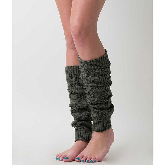 Women's Knit Legwarmer in Green by Daytrip. (76 DKK) ❤ liked on Polyvore featuring intimates, hosiery, green, daytrip, knit leg warmers, green hosiery and green leg warmers