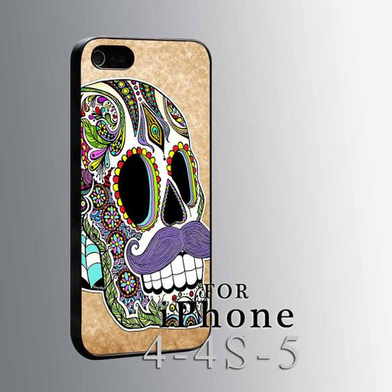 Mustache Sugar Skull, iPhone case, iPhone 4/4s/5/5s/5c case, Samsung Galaxy s4/s5 case, Samsung Case