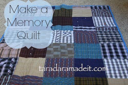 I show you how to make a memory quilt and the precious touches ... : how to make memory quilts - Adamdwight.com