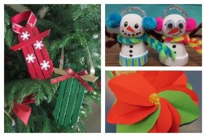 Link literature and informational texts to three hand crafted Christmas ornaments students can make!