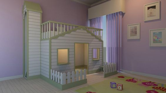 Imagem 3D Quarto de criança