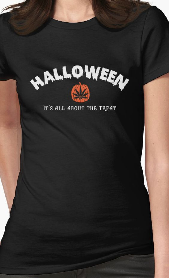 Halloween Cananbis Tee specially made for your favorite stoner!