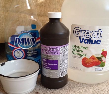 You can make this mixture without the vinegar, but it seems to work even better when it's included. I've gotten red drinks & what I (think) was road tar out of my carpet as well as many mystery spots.