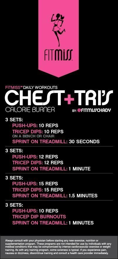 Sept 9's workout Fitmiss: