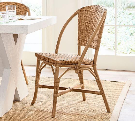 Parisian Woven Dining Chair Pottery Barn Dining Chairs Rattan Dining Chairs Wicker Dining Chairs