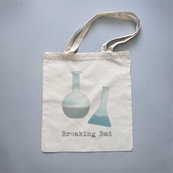 Bolso de tela Breaking Bad by Pendientera  http://es.qstoms.com/pendientera/bolso-de-tela-breaking-bad#