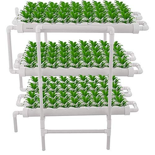 123 99 Mophorn Hydroponic Site Grow Kit 3 Layers 108 Plant Sites Hydroponic Growing System 12 Pipes Water Culture Garden Plant System For Leafy Vegetables Lett Hydroponic Growing Hydroponics Fruit Plants