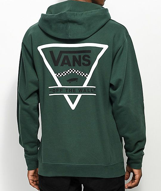 Vans Triangle Alpine Green Hoodie Zumiez Sweatshirts Hoodie