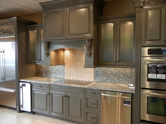 Best Chelsea Gray Cabinets With Black Glaze New House Ideas 400 x 300