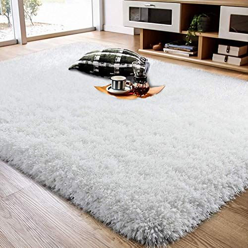 Buy Lochas Luxury White Shag Rug Plush Area Rugs 4x6 Feet Super Soft Bedroom Rugs Thick Modern Fuzzy Carpet 3 Inch High Pile Living Room Indoor Home Floor Bed In 2020