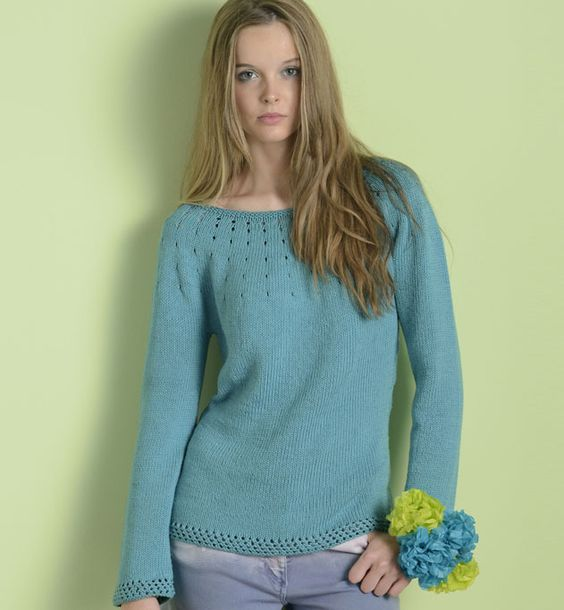 modèle tricot top down