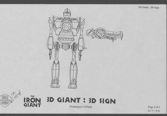 Cartoon Concept Design: Iron Giant Model Sheets
