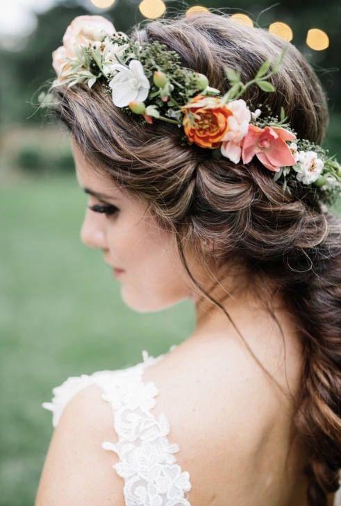 Floral Crown Goals Blush Coral Bridal Flower Crown Boho Flower Crown Wedding Accessories Weddi Flower Crown Bride Boho Flower Crown Crown Hairstyles