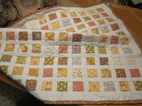 Shabby Chic Little Square Frayed Edge Baby Quilt ... : frayed edge quilt - Adamdwight.com
