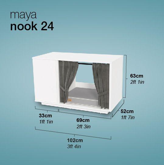 Maya Nook Luxe Indoor Kattenhuis Cat Houses Indoor Indoor Cat Cat House