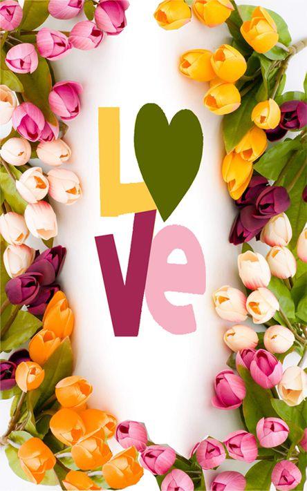 tulips - heart - love
