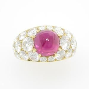 Gimel Ruby ring. r. 3.825ct, d.3,918ct, 幅11.4mm, 10号。