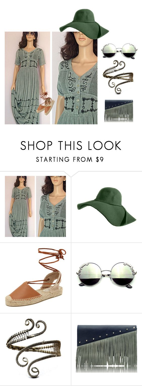 """""""Boho India Maxi Dress"""" by maincoursevintage on Polyvore featuring Soludos, Driftwood and vintage"""