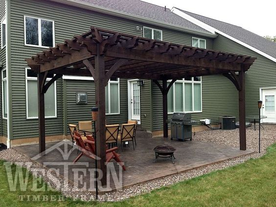 entertainment size pergola kit pictures gallery western timber frame winter2_15x21