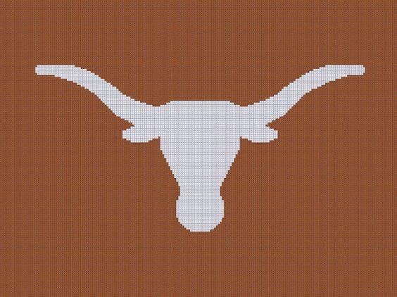 Texas longhorns, Afghan crochet and For sale on Pinterest