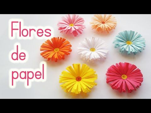 Manualidades flores de papel margaritas f cil innova - Youtube manualidades de papel ...