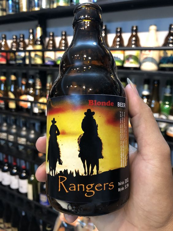 Bia Rangers Blonde 5.9% - Chai 330ml - Bia Bỉ Nhập Khẩu TPHCM