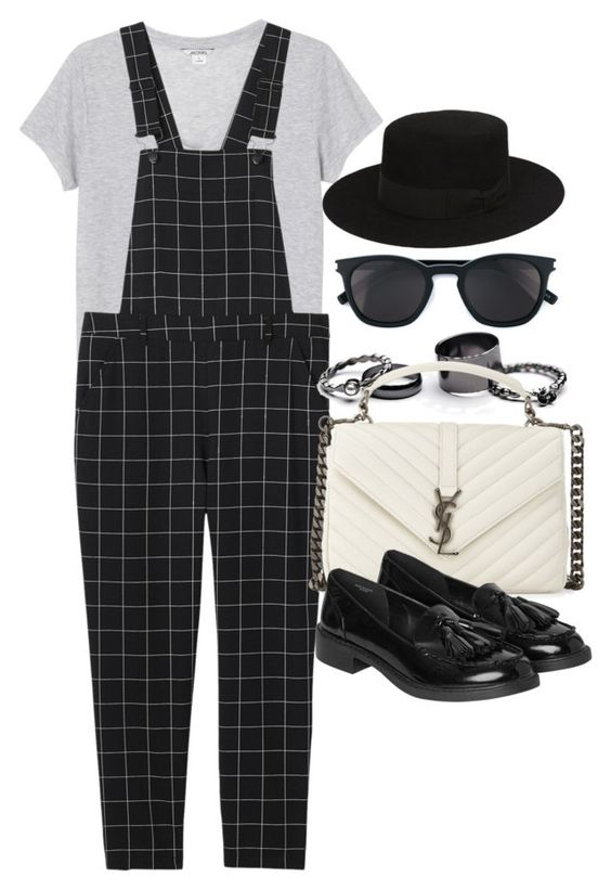 """""""Style #11101"""" by vany-alvarado ❤ liked on Polyvore featuring Monki, Free People and Yves Saint Laurent"""