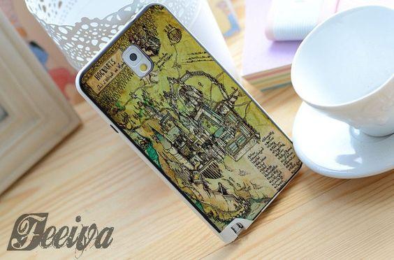 Harry Potter Hogwarts Map Phone Case For iPhone Samsung iPod – Feeiva