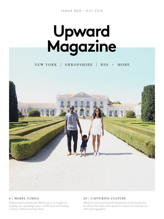 Upward Magazine 3-I like the simplicity of this design with the use of white space & photography.