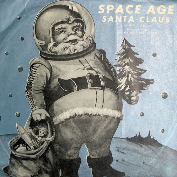 Space Age Santa Claus Christmas 7in Vinyl Record Hal Bradley Orchestra Patty Marie Jay #Christmas