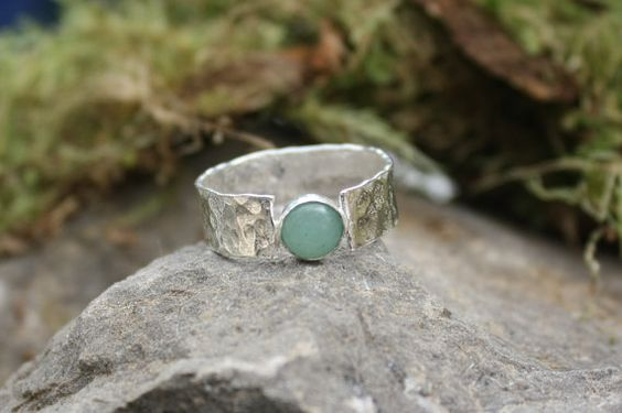 Green Aventurine ring. Green Aventurine by Eleftheriajewellery: