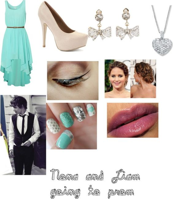 """Nona and Liam going to prom♥"" by iloveharrystyles9 ❤ liked on Polyvore"