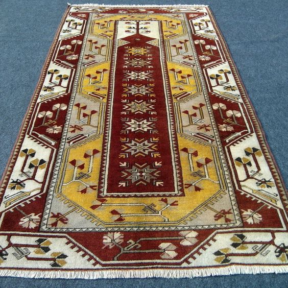 Alter Orient Teppich Milas 215 x 123 cm Gebetsteppich Melas Old Carpet Rug Tapis
