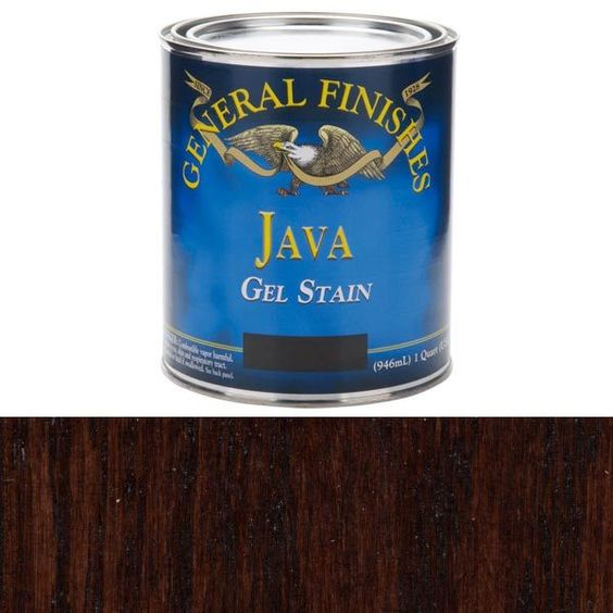 General Finishes Gel Stain Pint Or Furniture Oil Topcoat: General Finishes, Java Gel Stain, Quart The Best Wood