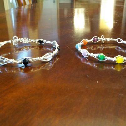Wire Wrapped Bracelet's that I made.