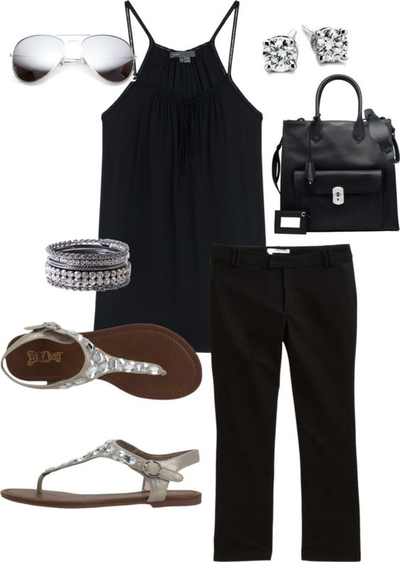 """Black & Bling"" by andrea-amparano on Polyvore"