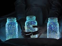Fairies in a jar.  Very cute idea that everyone can enjoy.  Maybe it'll help your child sleep at night in the dark?!