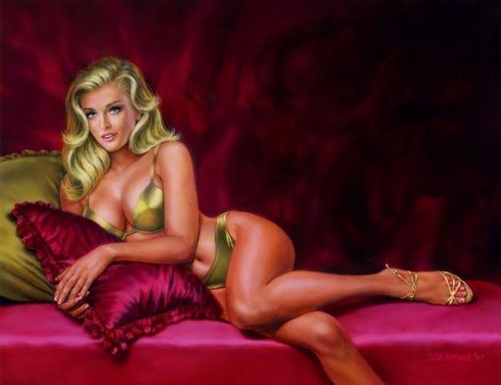 Incrível hiper realistas Pinturas Glamorous gouache por Dick Bobnick